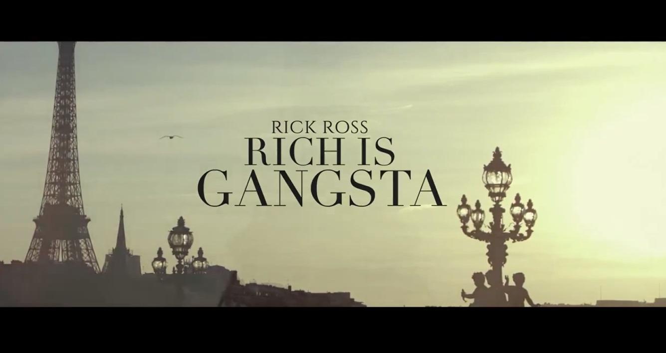 Rick Ross de retour dans le clip 'Rich is Gangsta' !!!
