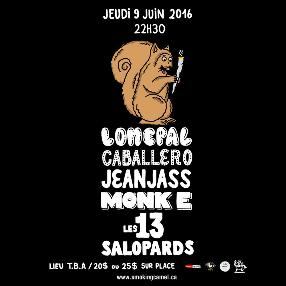 LOMEPAL x CABALLERO x JEAN JASS à Montréal le 9 JUIN!