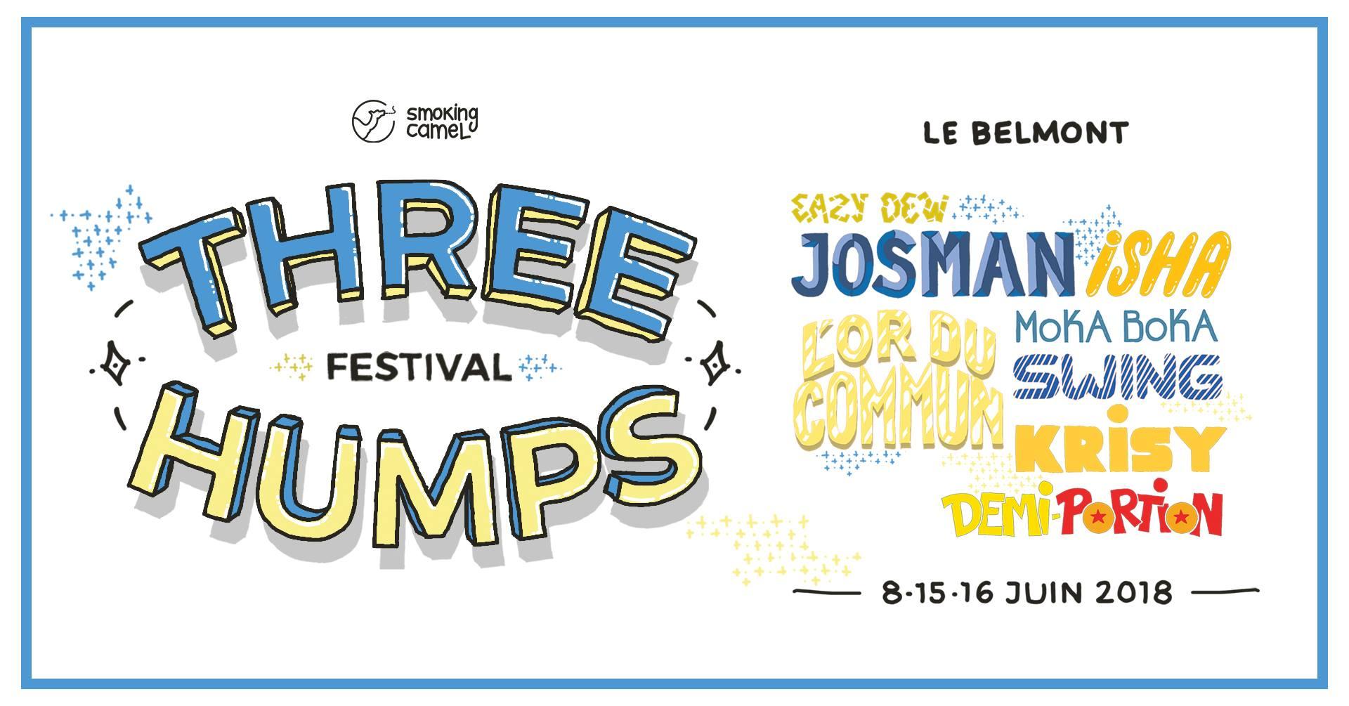 Le festival rap Three Humps les 8, 15 et 16 Juin à Montréal !